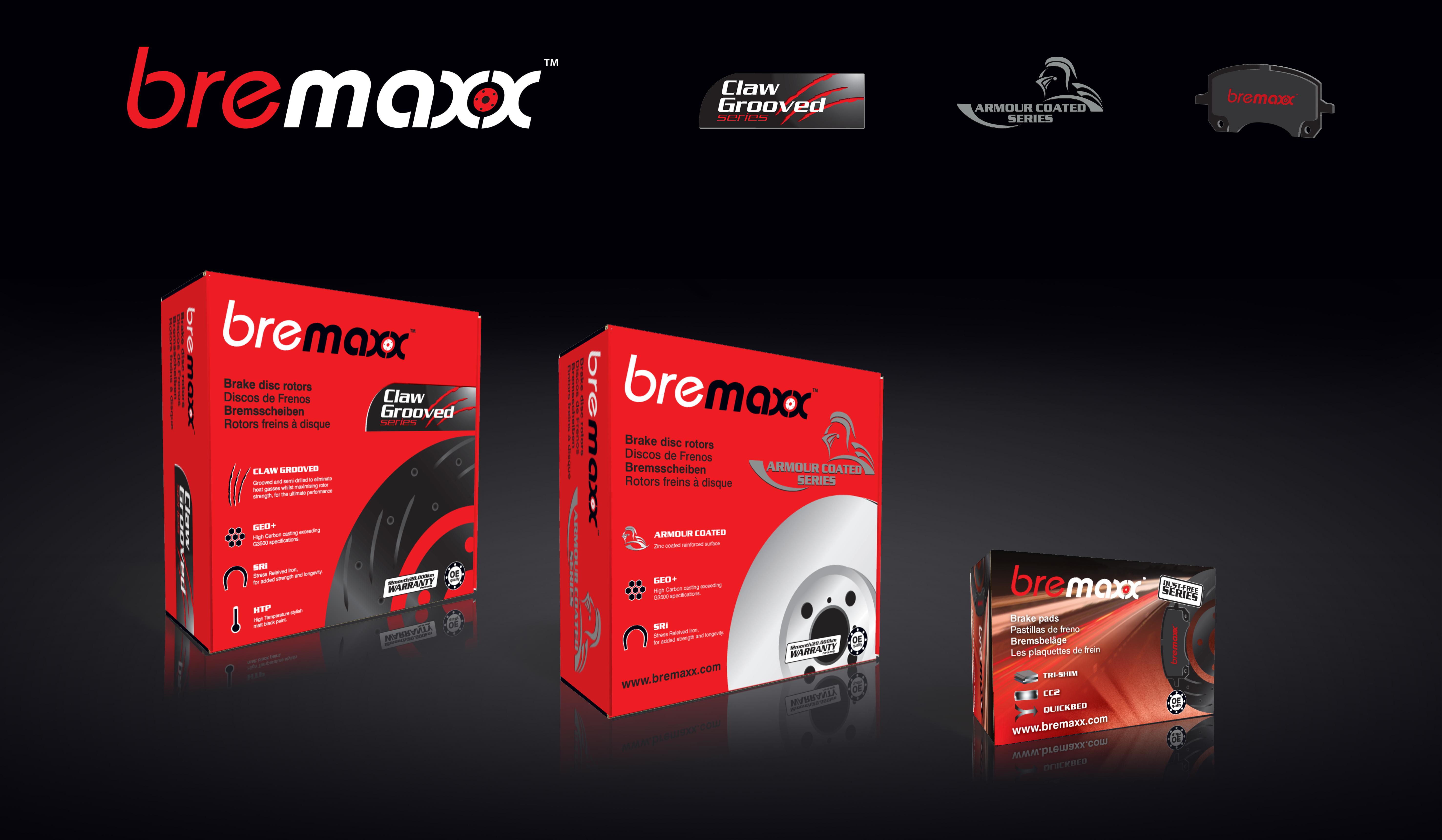 DUST FREE BREMAXX heavy duty brake pads FRONT /& REAR for TOYOTA prado 120