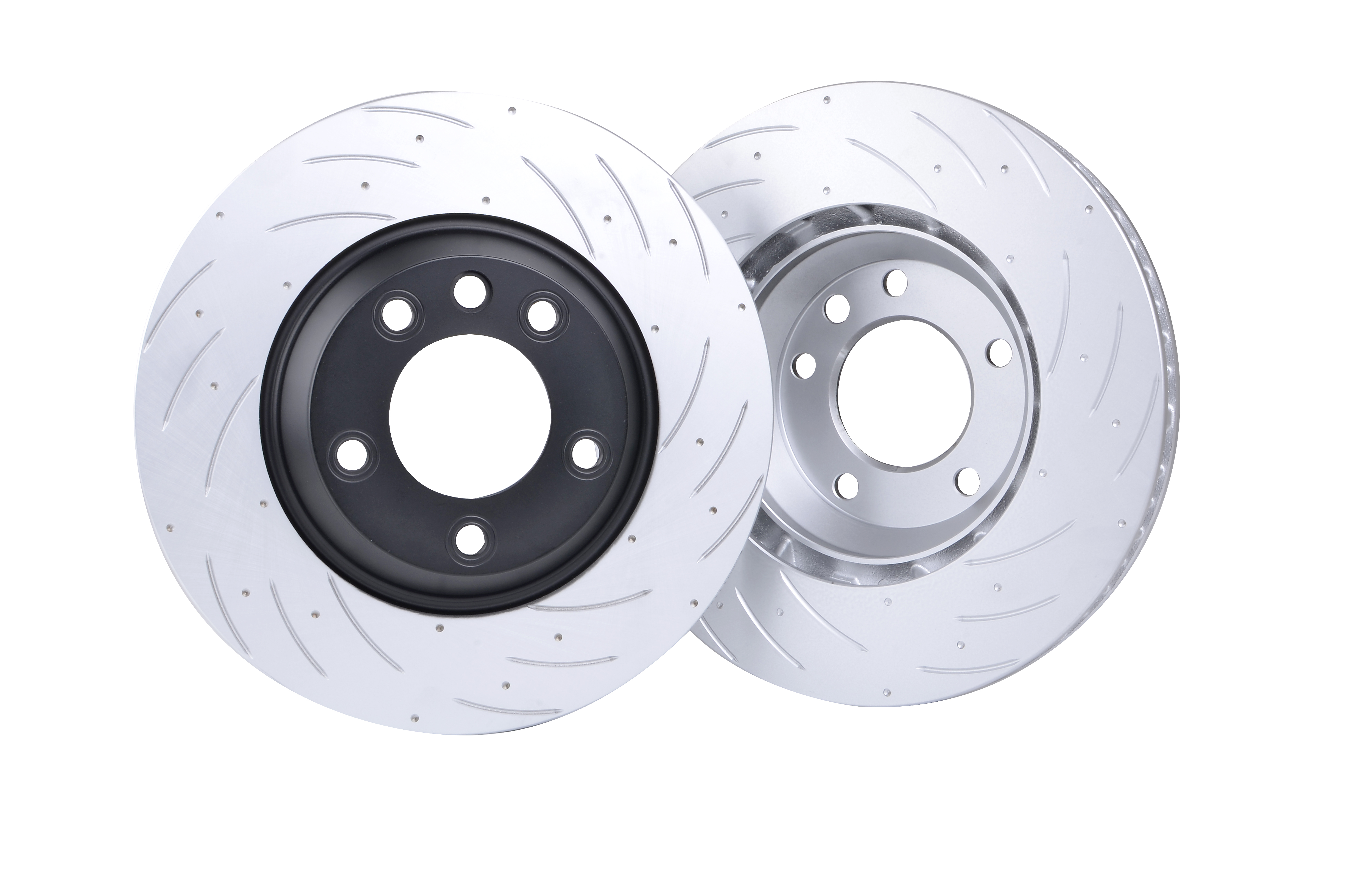 Bremaxx SLOTTED new brake disc rotors front for VW Golf ...