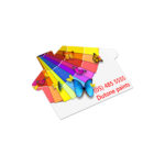100113 – AD Labels 70 x 50mm – House Shaped