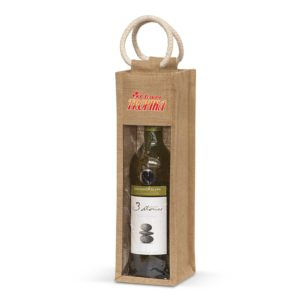 108039 – Serena Jute Wine Carrier