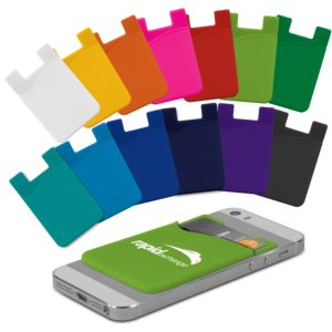 112928 – Silicone Phone Wallet – Indent