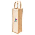 1195 – Eco Jute 1 Bottle Wine Bag