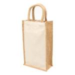 1196 – Eco Jute 2 Bottle Wine Bag