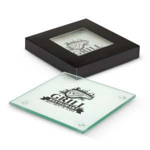 116395 – Venice Glass Coaster Set of 4 – Square