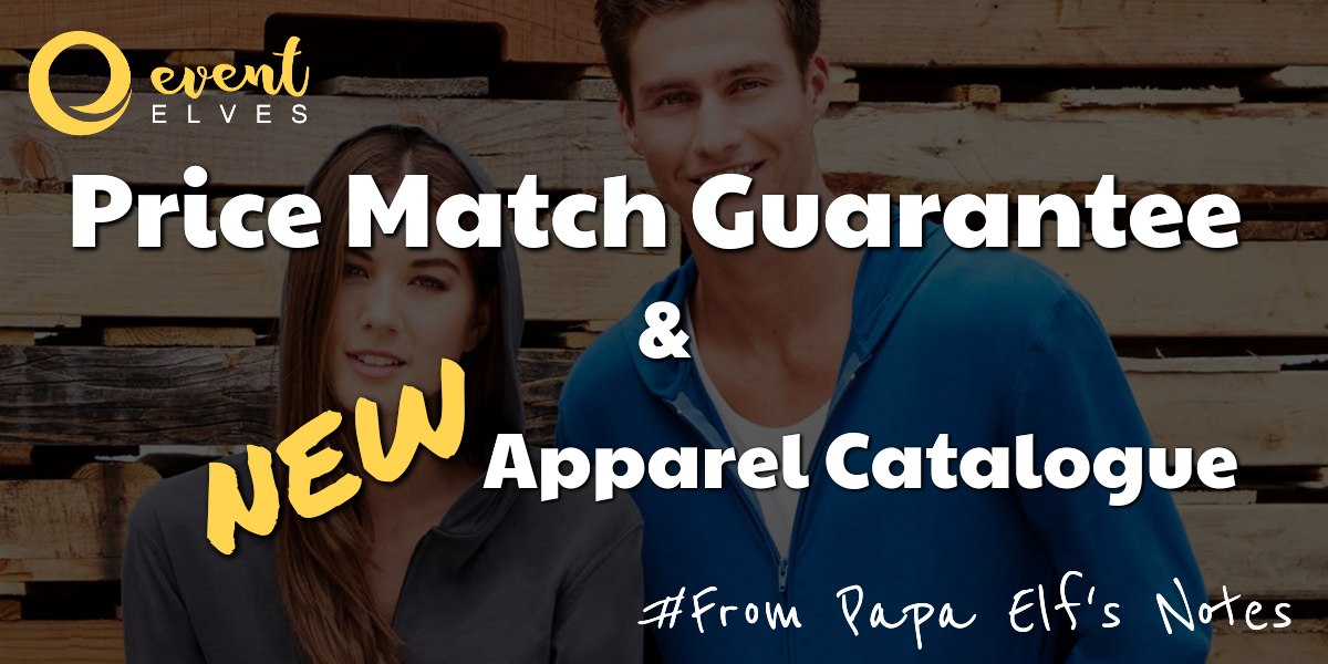 Price Match Guarantee and Our New Apparel Catalogue for 2020
