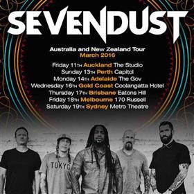 Sevendust Australian Tour 2016 - Sevendust at The