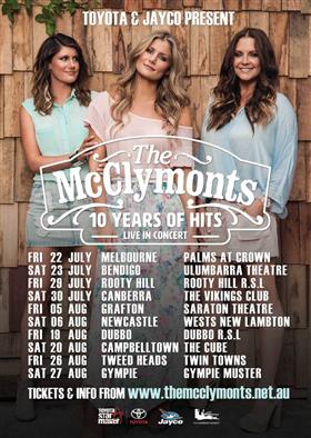 The McClymonts '10 Years of Hits' Australian Tour...