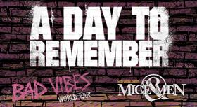 A Day to Remember 'Bad Vibes' Australian Tour 2016