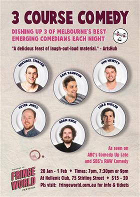 3 Course Comedy at Fringe World