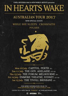 In Hearts Wake Australian Tour 2017 - In Hearts Wake at The Tivoli ...