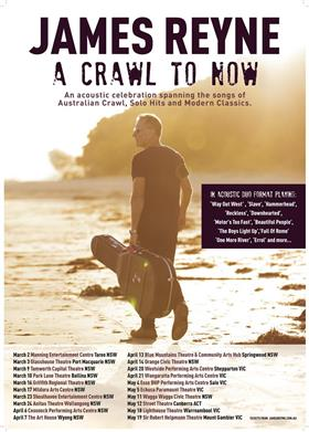 James Reyne 'A Crawl to Now' Australian Tour 2018