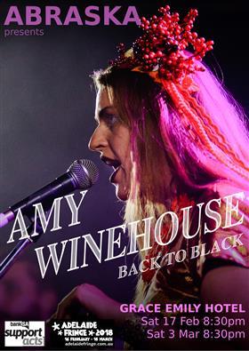 Amy winehouse back to black adelaide fringe abraska at the amy winehouse back to black adelaide fringe malvernweather Gallery