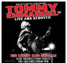Tommy Emmanuel Australian Tour 2013