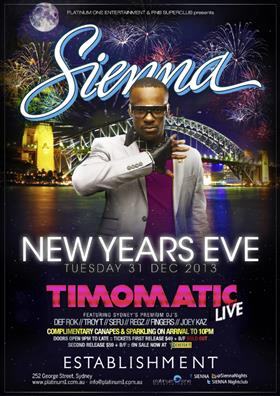 Sienna New Years Eve Party Feat. TIMOMATIC