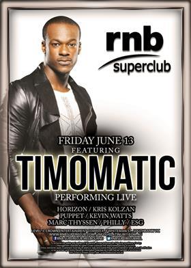 RNB Superclub presents Timomatic