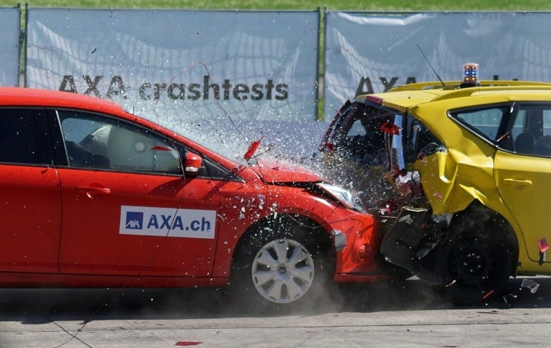 You must not crash your car at any point during the driving test