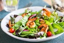 prawn-leafy-salad