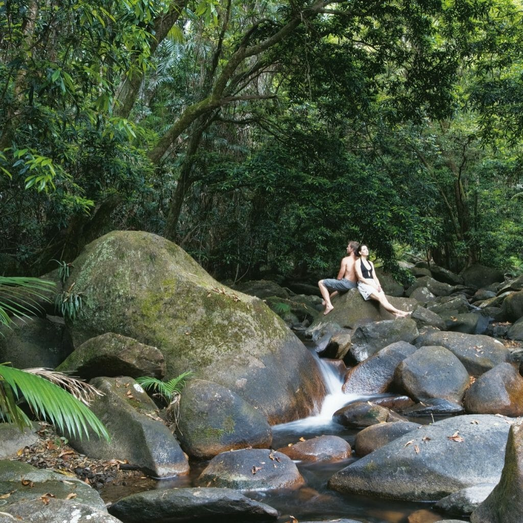 The Daintree Rainforest and the Great Barrier Reef are the only World Heritage Sites in the world that meet.