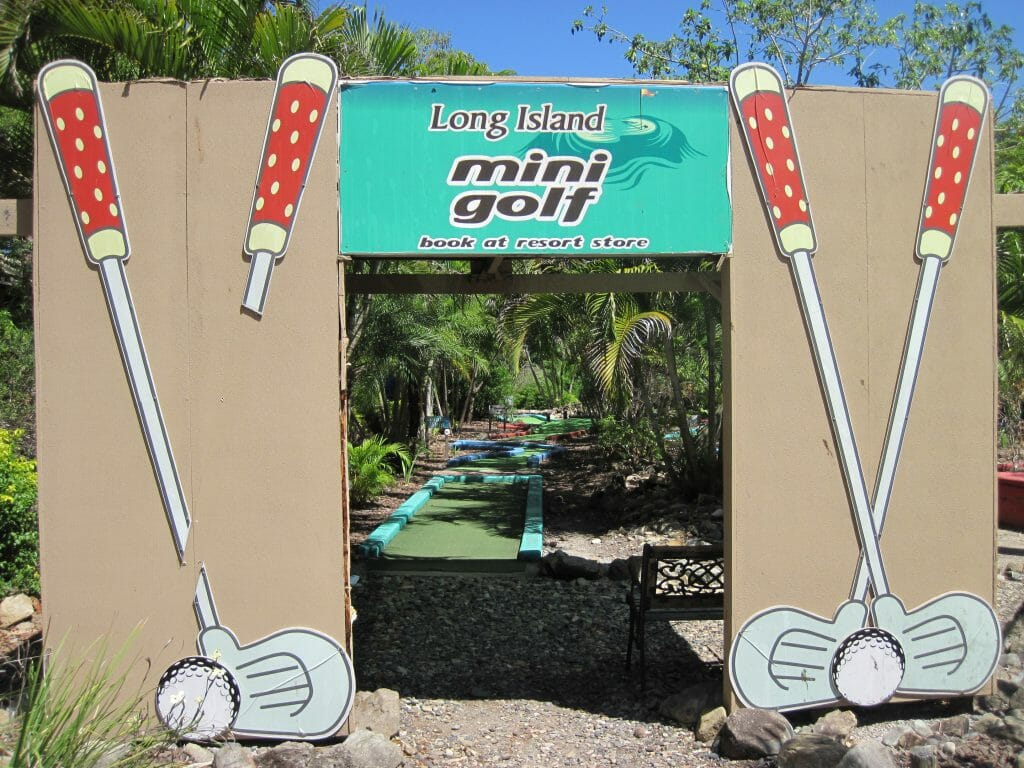 Start of mini golf course