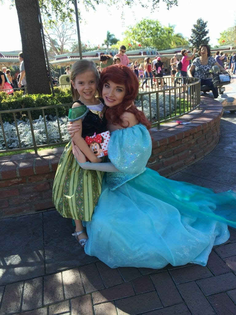 Abbie and Ariel at Disneyland.