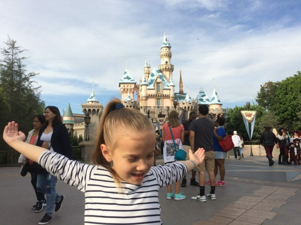 Abbie at Sleeping Beauty's Castle Disneyland