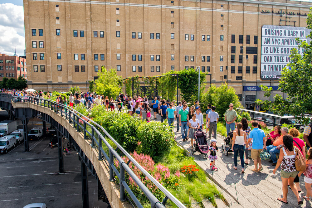 Highline in New York with kids