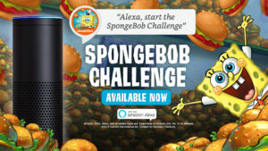 SpongeBob Squarepants game on Alexa device