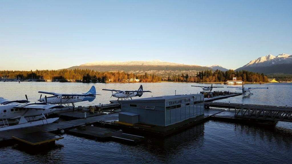 Sea planes in Vancouver Harbour