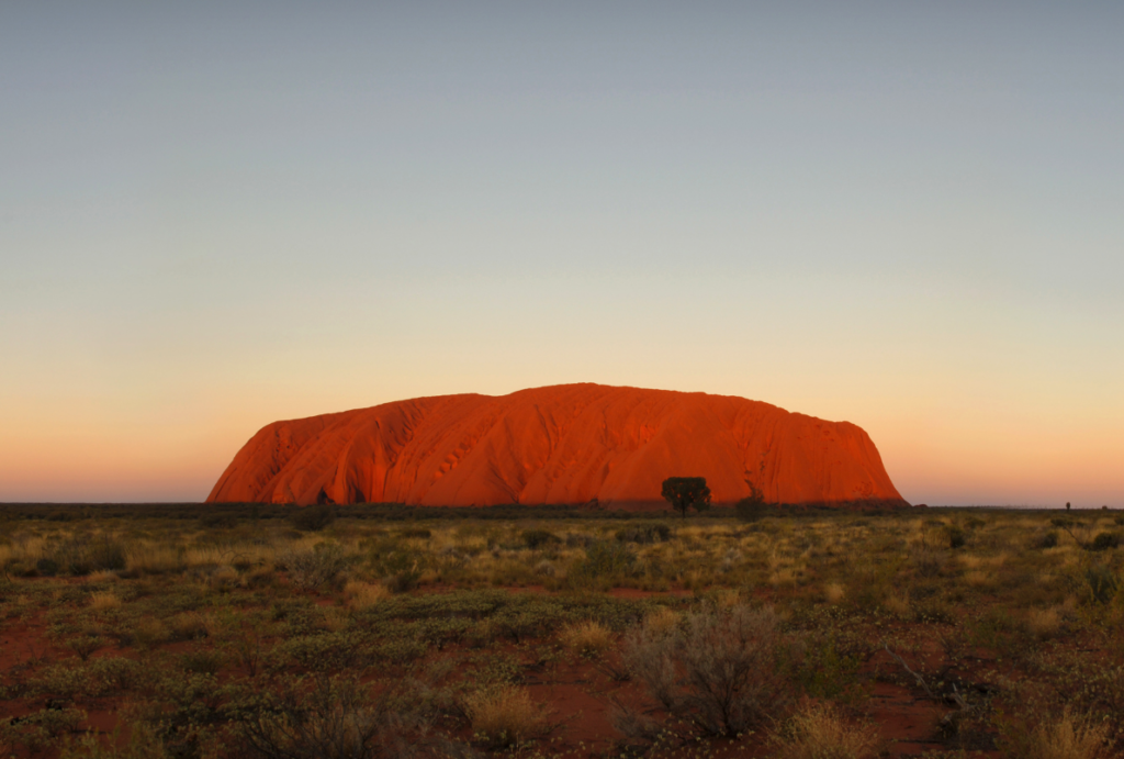 Sunset over Uluru National Park, Northern Territory
