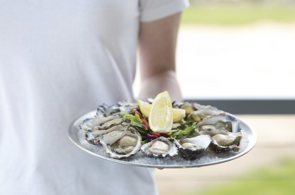 Plate of Fresh Sydney Rock Oysters