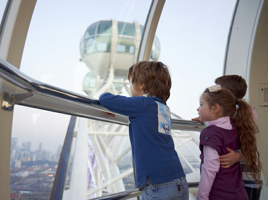 Kids fly free on the Melbourne Star