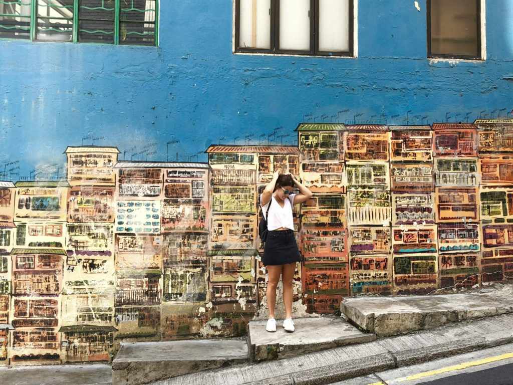 Hollywood Road street art instagrammable walls
