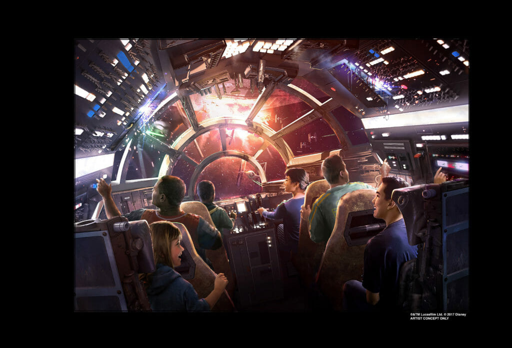 Star Wars Galaxy's Edge opens at Disneyland California and Walt Disney World Orlando Florida in 2019.