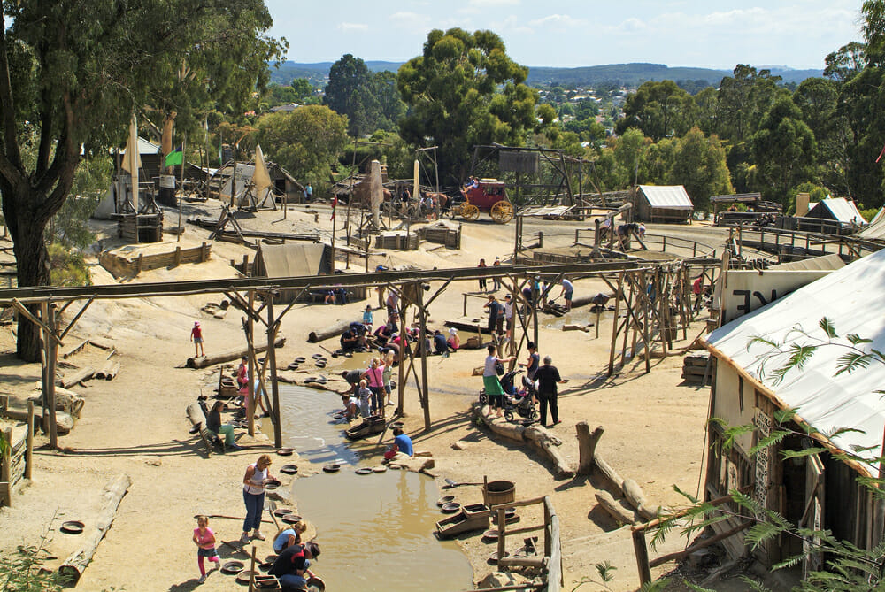 gold panning on Sovereign Hill