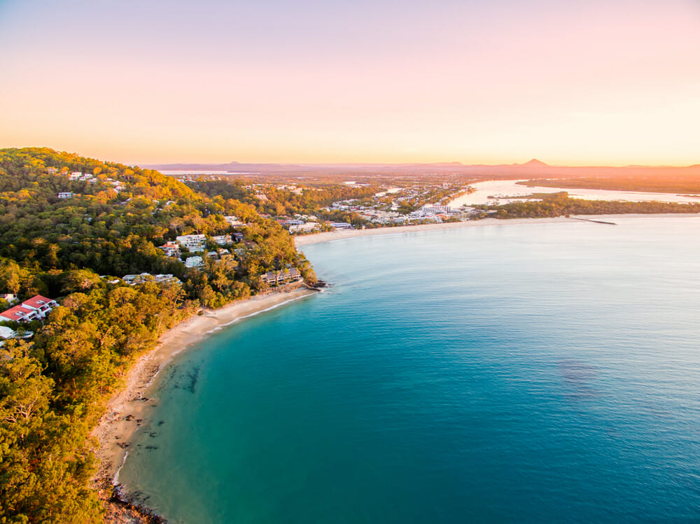 Noosa National Park at sunset in Queensland Australia