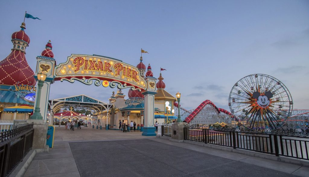 Pixar Pier at Disney California Adventure Park. Picture: Joshua Sudock/Disneyland Resort