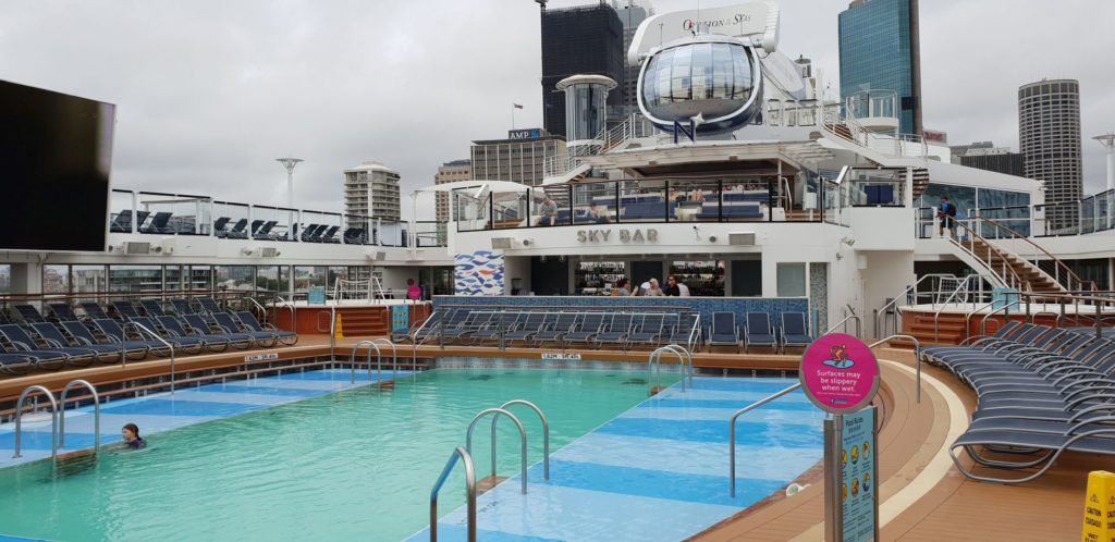 Ovation of the Seas swimming poo
