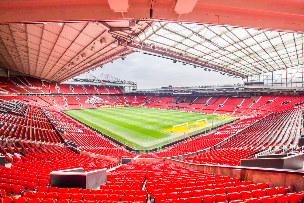 Old Trafford stadium in Manchester - home of Manchester United