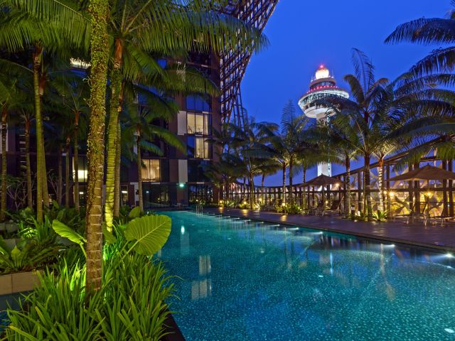 The Crown Plaza Singapore Changi Airport