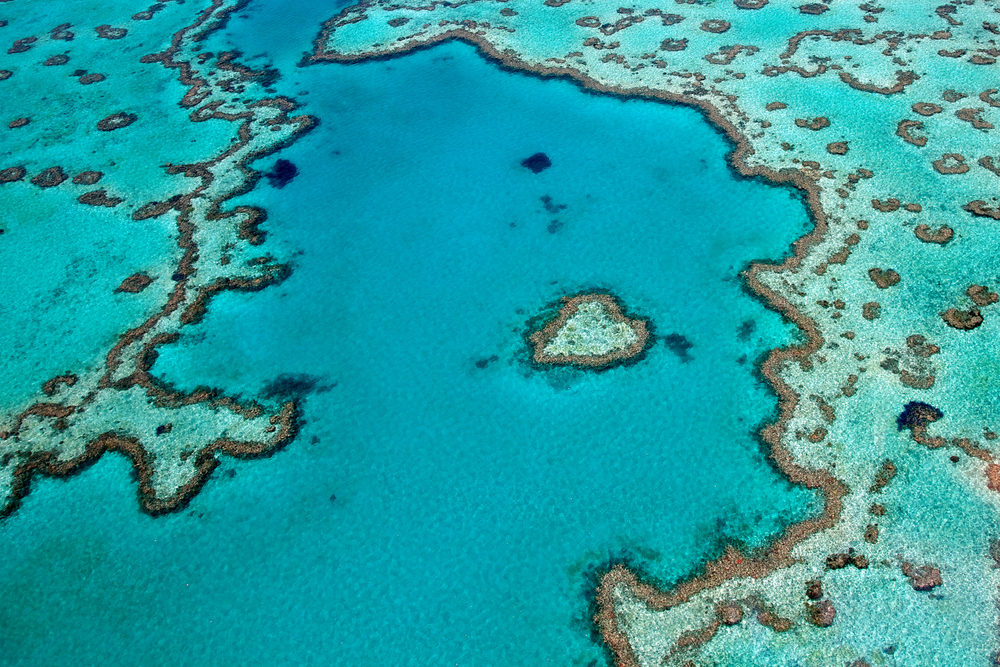 2. Heart Reef, Whitsundays Queensland