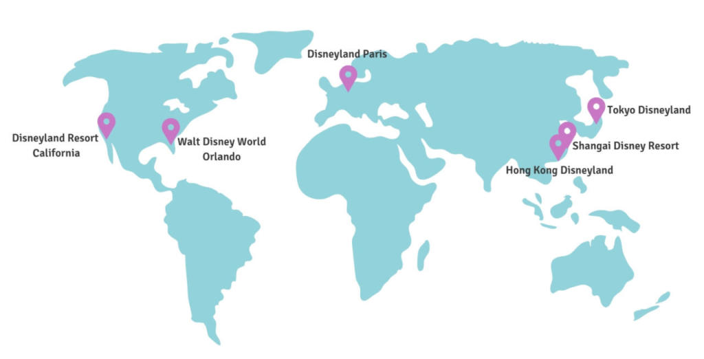 Where is Disneyland? | Six Disney Parks around the world on