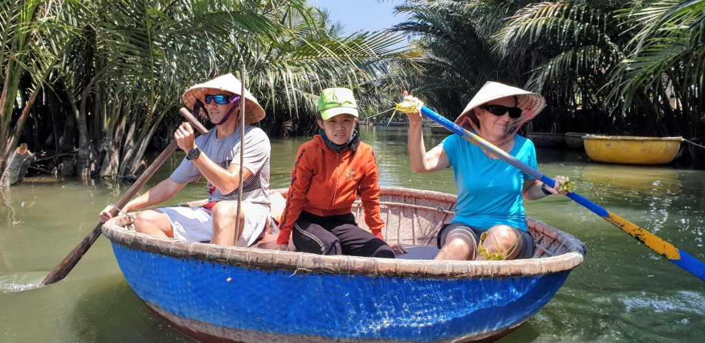 Take a bucket boat ride in Hoi An Vietnam