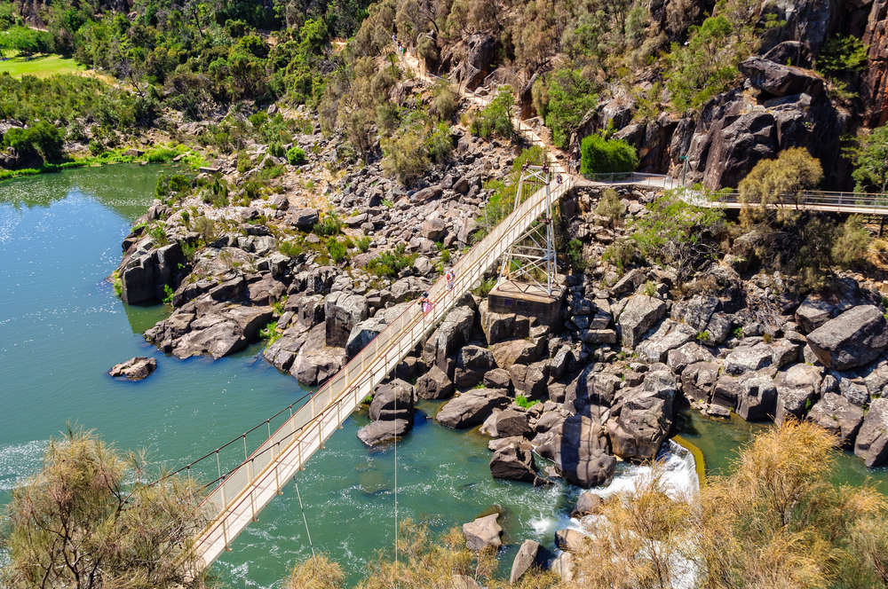 Alexandra Suspension bridge at Cataract Gorge's First Basin