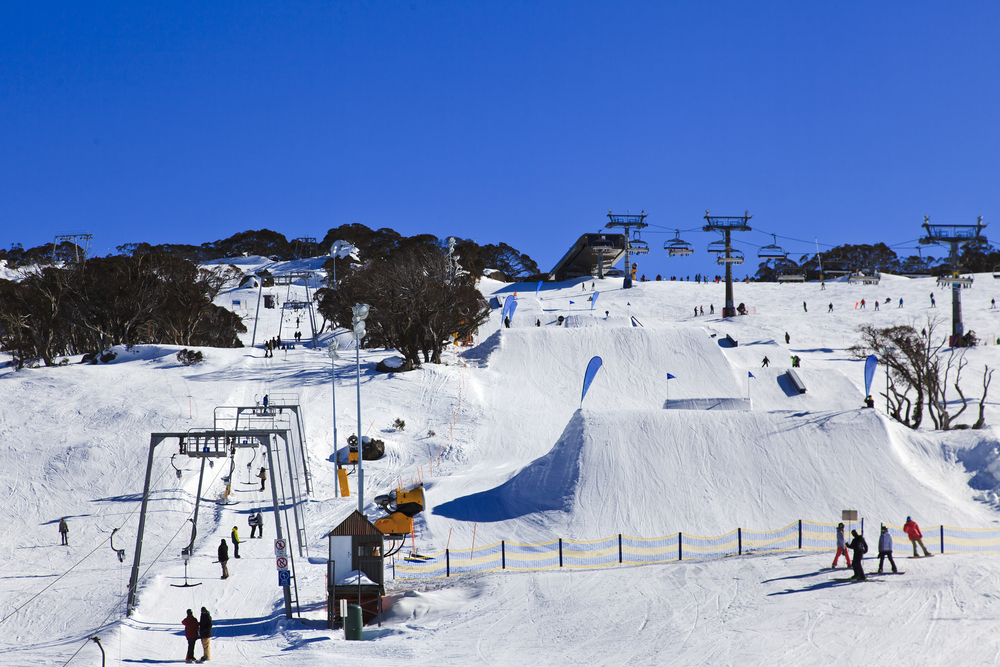 Perisher Ski Resort Snowy Mountains Australia