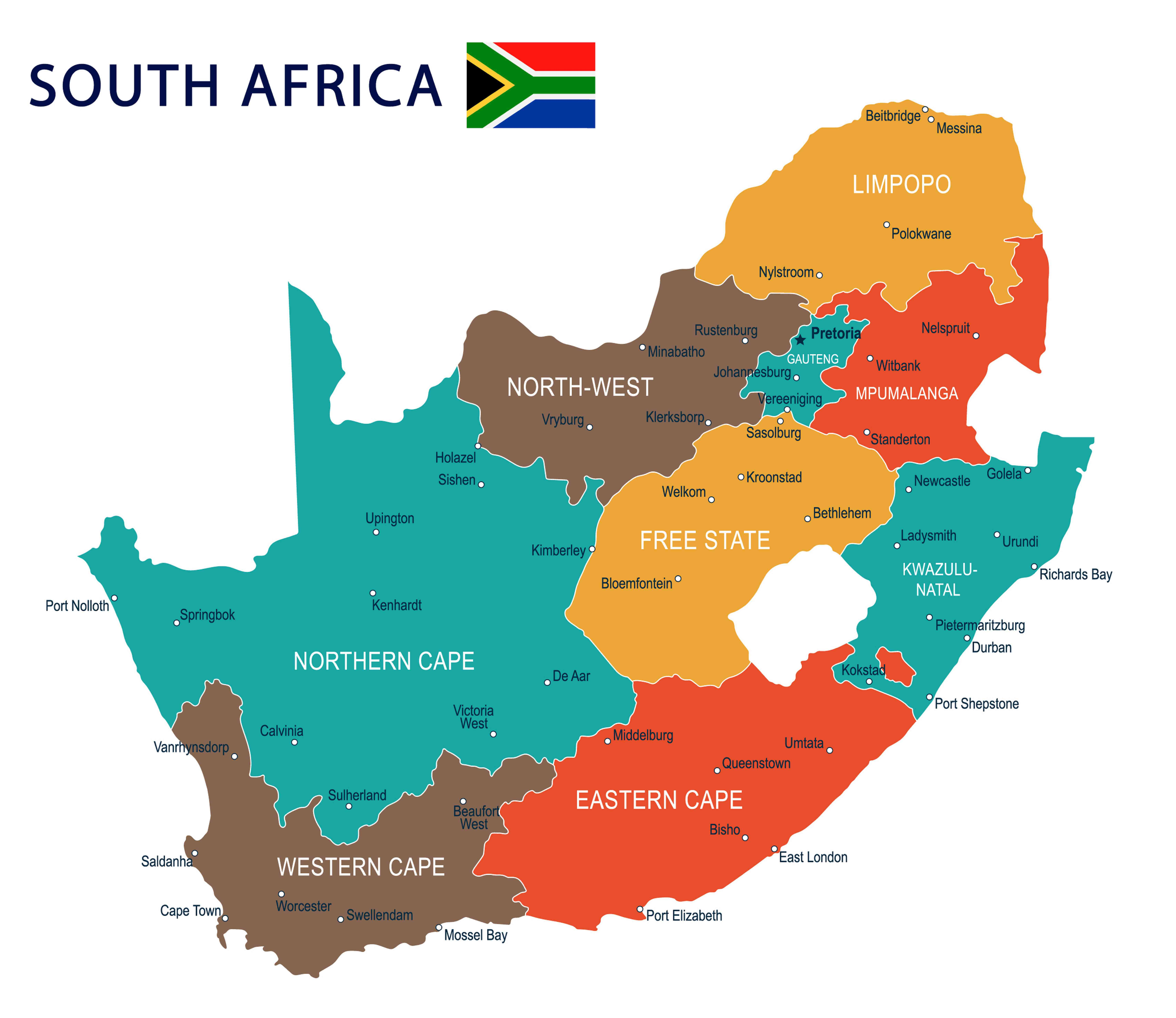 South Africa travel tips  - map