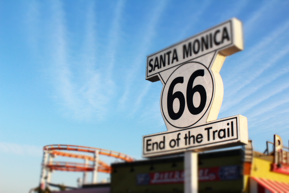 Route 66 end Santa Monica LA