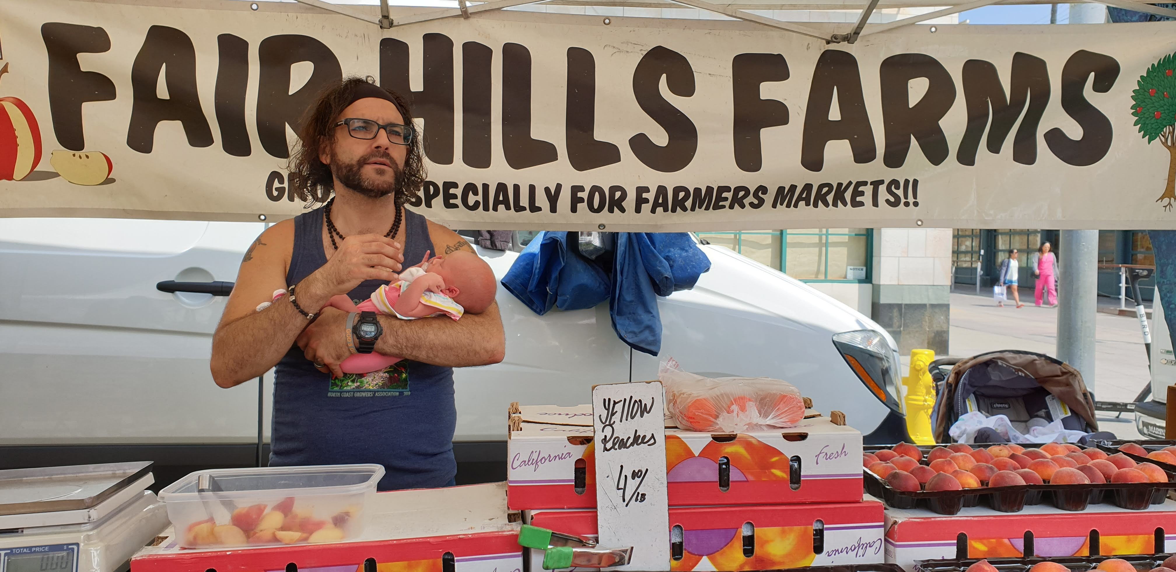 Miguel Ferreira at the Santa Monica Farmers Markets