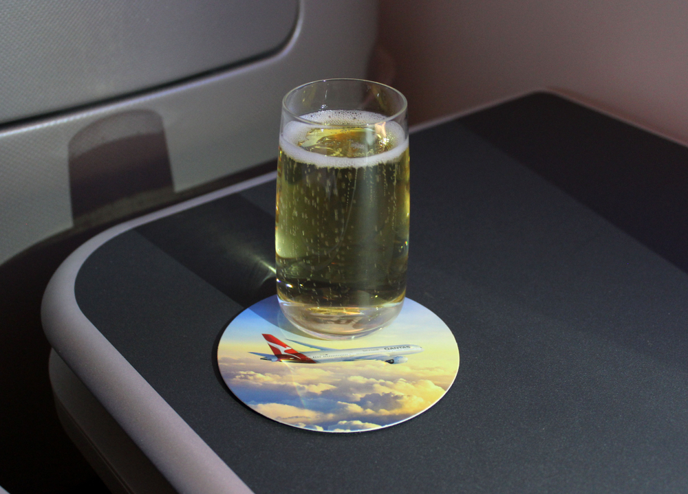 Australian airlines welcome drinks