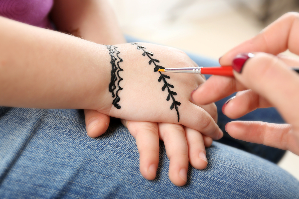 Black henna can cause severe reactions in kids.