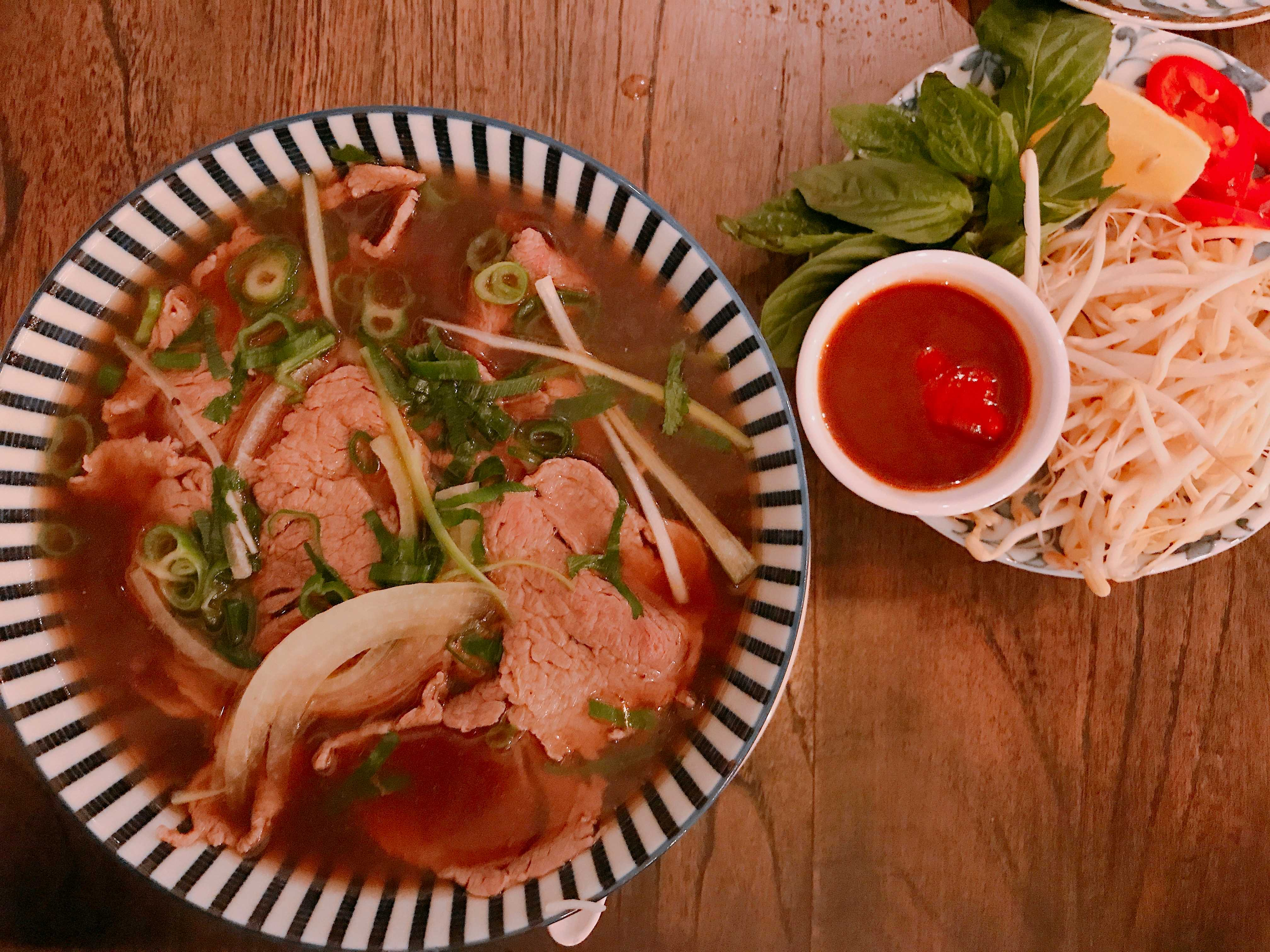 Beef Pho at Miss Lillian teahouse